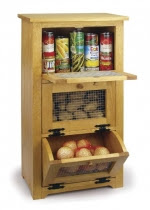 Storage Bin Cabinet Woodworking Plan - fee plans from WoodworkersWorkshop® Online Store - vegetables storage cabinets,onion bins,potatoes,country style,full sized patterns,woodworking plans,woodworkers projects,blueprints,drawings,blueprints,how-to-build,MeiselWoodHobby