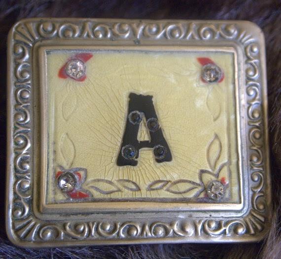 vintage belt buckle etsy