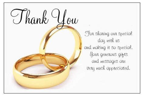 Wedding Thank You Templates Free   For Guests Who Gave