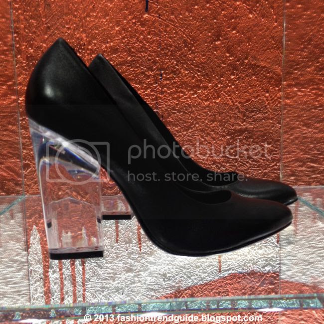 Topshop Glass perspex pumps, clear heeled black pumps