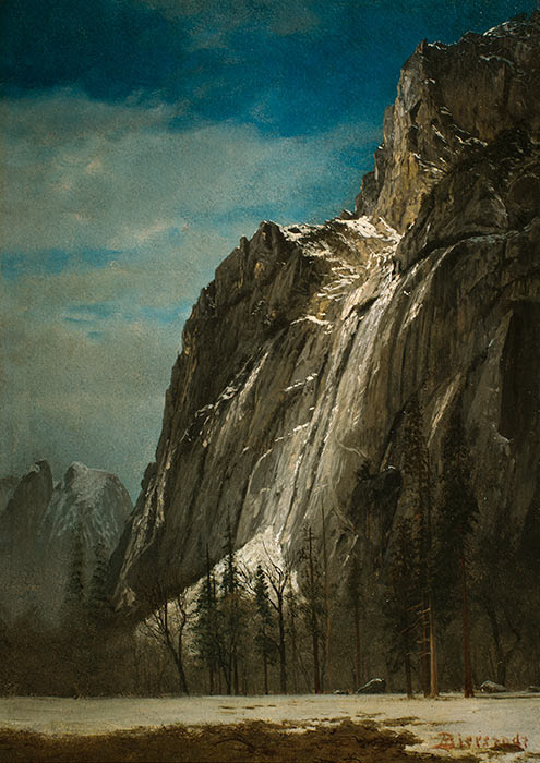 Cathedral Rocks, A View of Yosemite, ca. 1872, by Albert Bierstadt