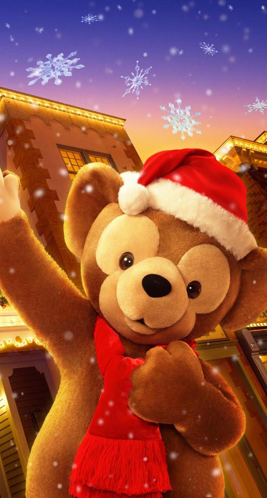 ダッフィーのクリスマス めちゃ人気 Iphone壁紙dj