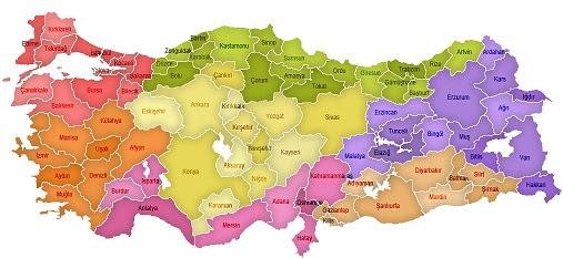 Bölgenizde Insanların Yoğun Olarak Yaşadıkları Yerleri Haritanın