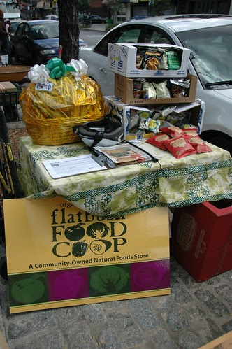 Bounty donated by the Flatbush Food Coop