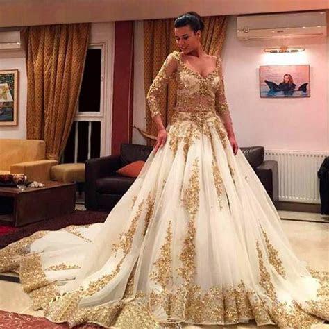 Gold Plus Size Wedding Dress   biwmagazine.com