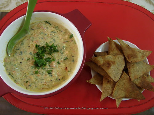 Capsicum & Tomato Dip with Tortilla chips