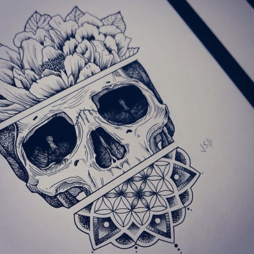Tattoo Drawing Skull At Getdrawingscom Free For Personal Use