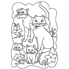 cat coloring pages cute at getcolorings  free printable colorings pages to print and color