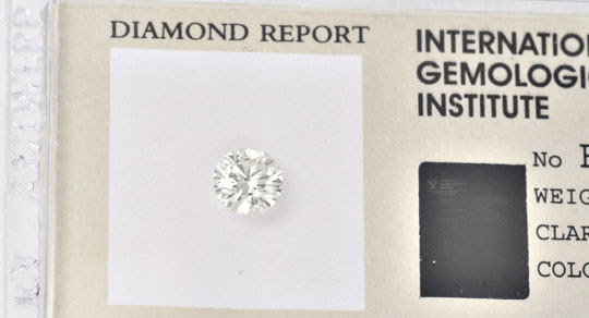 Original-Foto 2, DIAMANT, GUTACHTEN IGI BRILLANT 0,70ct LUPENREIN JUWEL!