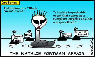 Dry Bones cartoon, Israel,BDS, boycott, divest,  Palestine,  Natalie Portman, Genesis Prize, Black Swan,
