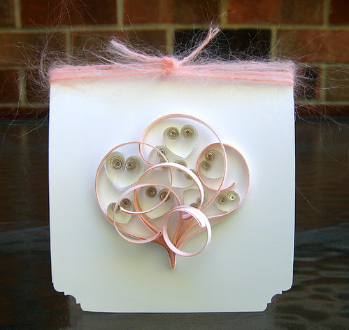 Quilled Baby Card with Hearts