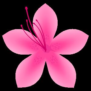 サツキの花2 花植物イラスト Flode Illustration フロデイラスト