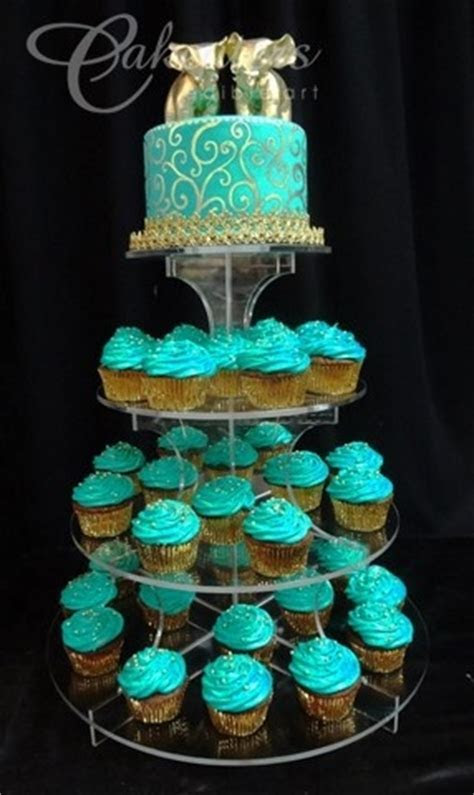 25  best ideas about Teal cupcakes on Pinterest   Bling