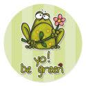 yo! be green sticker