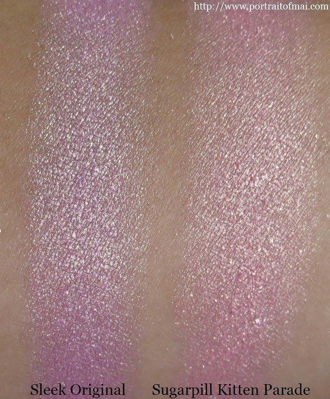 Sugarpill Kitten Parade vs Sleek Original palette