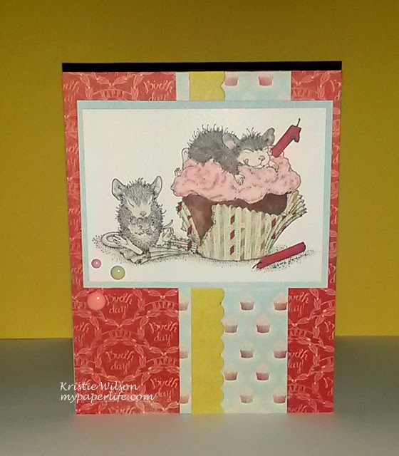 2014 Card 132 - House Mouse Birthday Cupcake