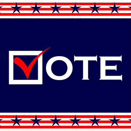 voting: US 2016 Presidential Election background. Voting poster. US presidential voting. Vector background. Illustration