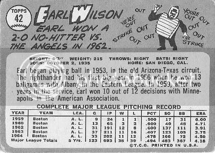 #42 Earl Wilson (back)