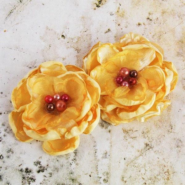 Golden Yellow Banda Flowers by Prima