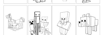 Minecraft Coloring Book Pages