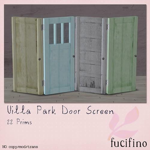 [f] fucifino.villa Park Door Screen