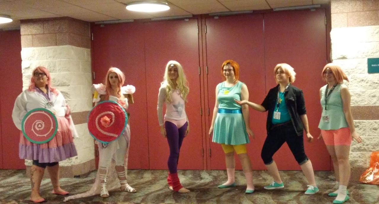 Rose Quartz, Pearl, and Rainbow Quartz at AnimeNEXT