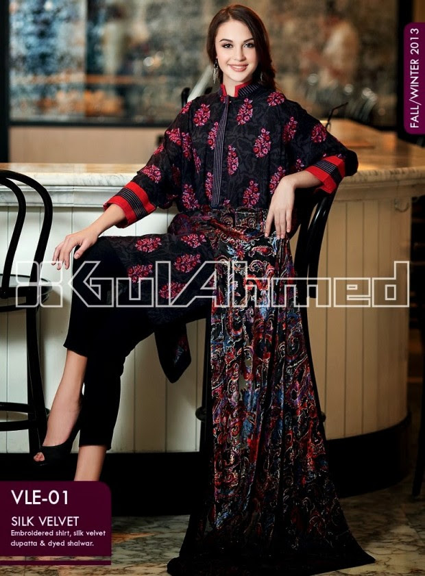 Beautiful-Cute-Girls-New-Fashionable-Dress-Design-by-Gul-Ahmed-Fall-Winter-Collection-2013-14-18