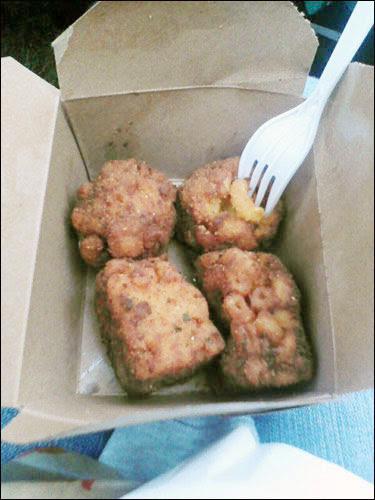 deep fried macaroni, cne