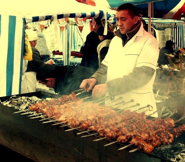 шашлик на фестивалі Мукачево