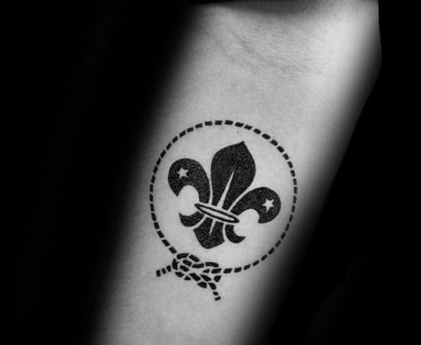 70 Fleur De Lis Tattoo Designs For Men Stylized Lily Ink Ideas