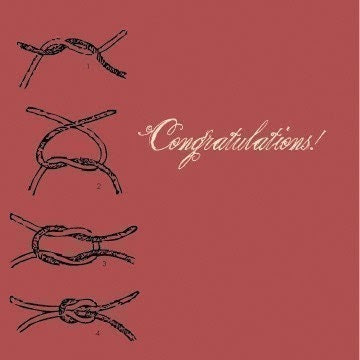 smackofjellyfish Congratulations on tying the knot greeting card