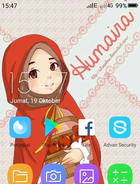 Berhijab Animasi Gambar Kartun Muslimah Cantik Hijabfest