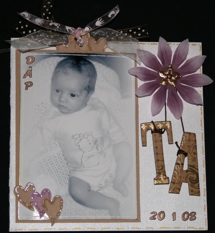 Dåpskortet til Thea Alexandra