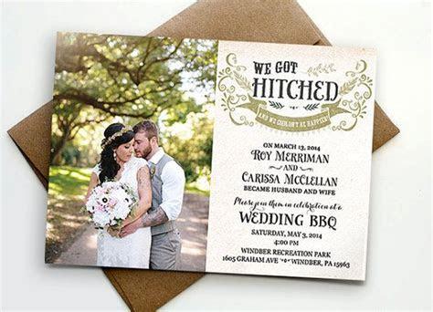 Post wedding reception invitation / We got hitched   Posts