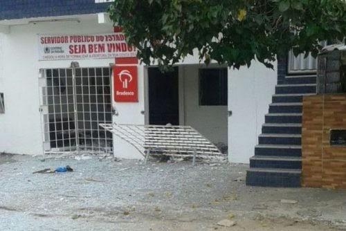Duas agências bancárias são explodidas nesta madrugada na Paraíba