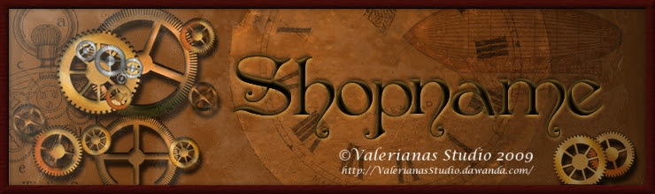 Steampunk Banner for Dawanda Shops