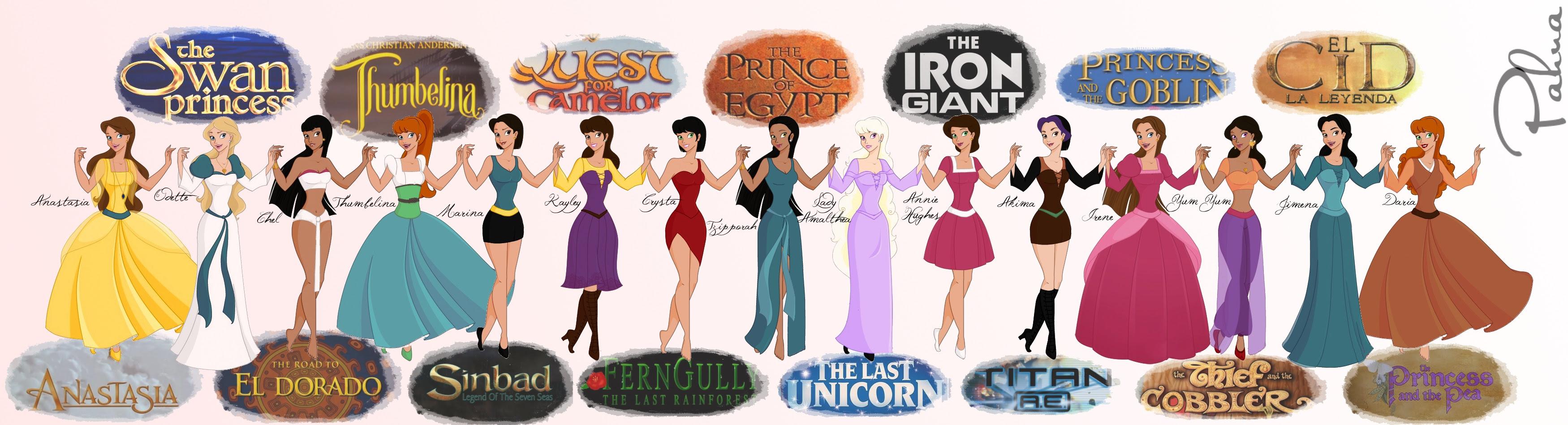 Non Disney Heroines by Pahua on DeviantArt