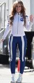 Jennifer Love Hewitt Chandal Ajustado En El Set The Client List 4 Enero 2013