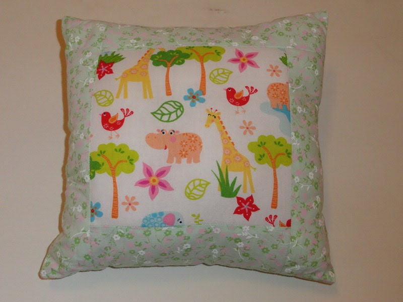Zoo pillow girl boy pillow kids room decoration by SweetnCozy