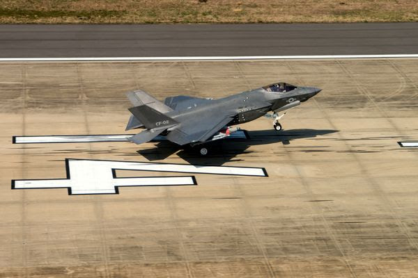The F-35C CF-2 aircraft completes the final test flight for the SDD phase of the F-35 program...on April 11, 2018.