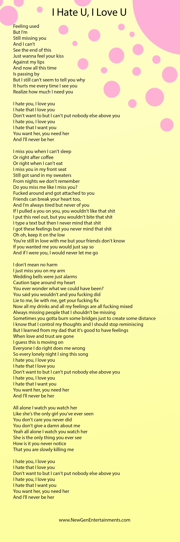 I Hate You I Love You Lyrics Gnash New Gen Entertainments
