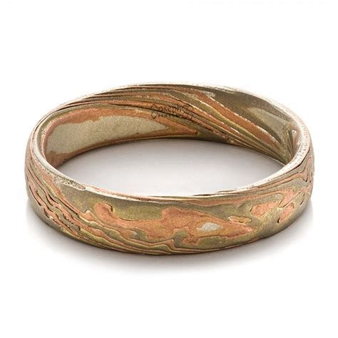 Men's Etched Mokume Band #100522   Seattle Bellevue