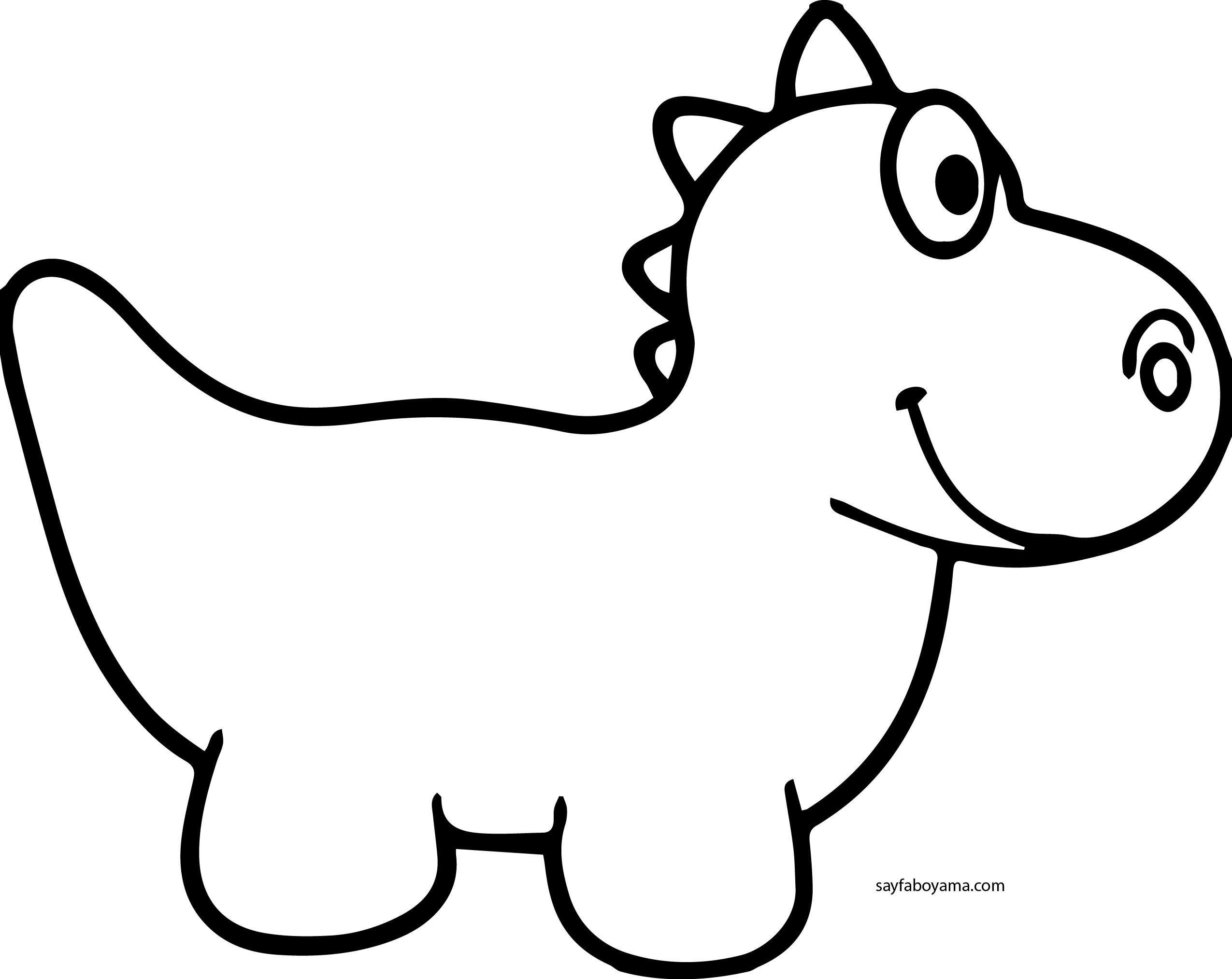Sevimli Dinozor Boyama Sayfası