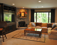 Family room layout with corner fireplace SOS - Houzz