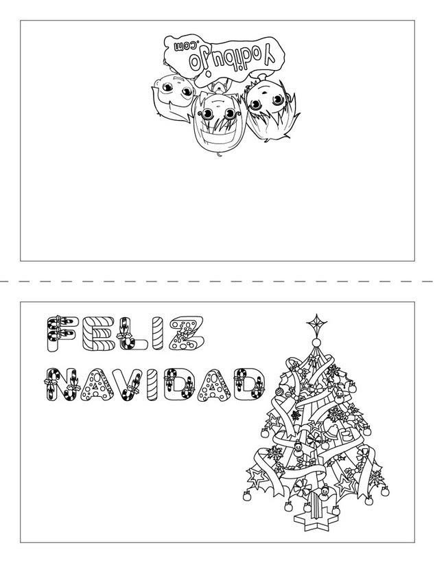 Dibujos Para Colorear Carta Arbol De Navidad Para Doblar Es