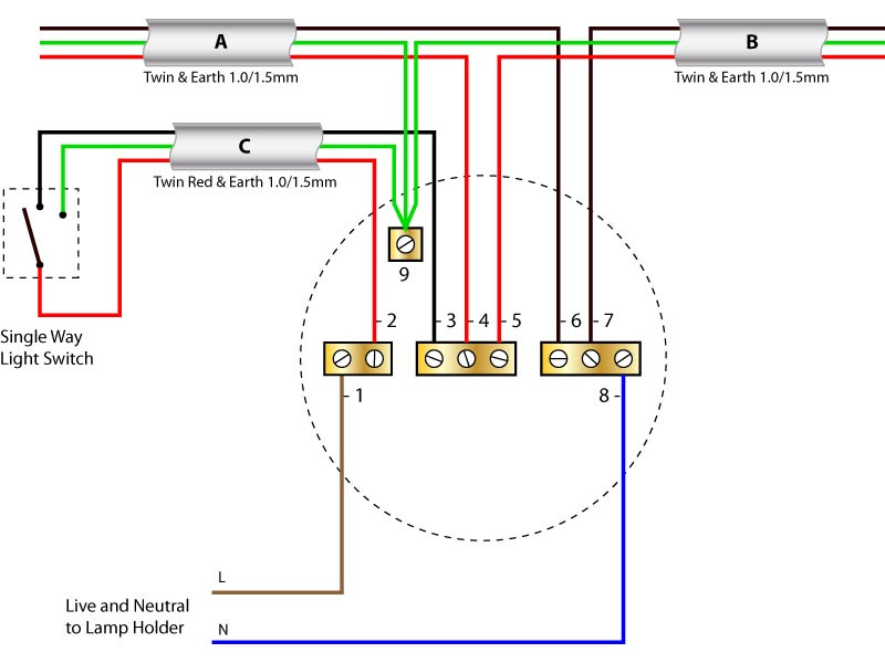 View 1 Switch 3 Lights Wiring Diagram Background
