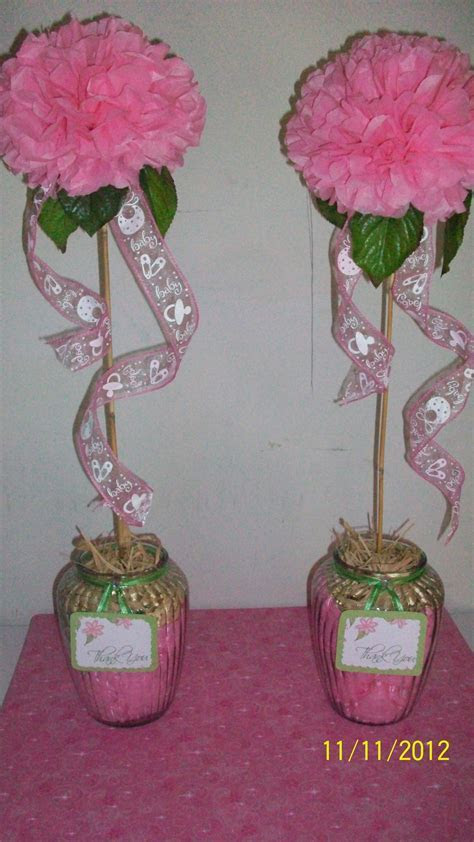baby shower decorations, tissue paper flowers.   CRAFTS N