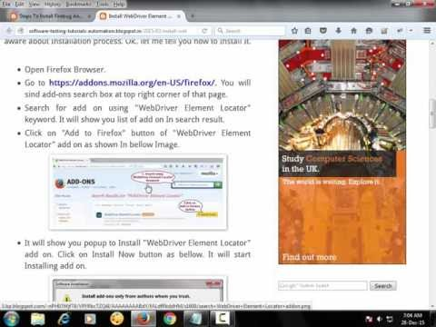 Software testing tutorials and automation: Firepath And