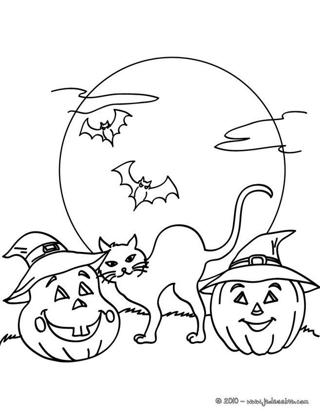 Coloriage Chat Halloween 20 Coloriages Dhalloween Gratuits à Imprimer