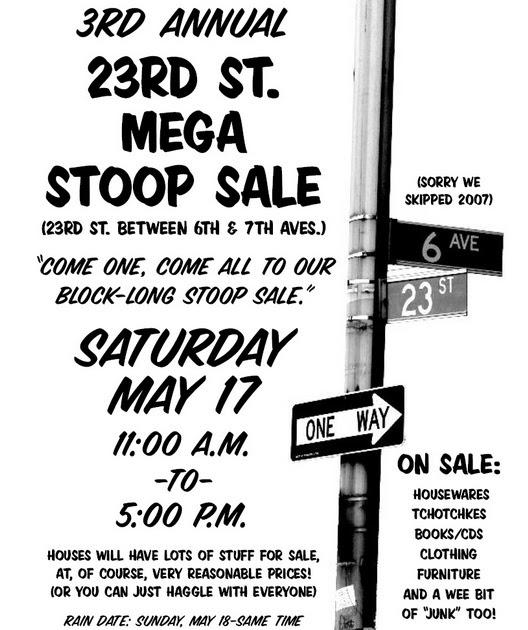 23rd St Stoop Sale